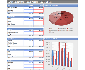 deluxe event budgeting template